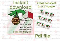 Hot Chocolate Gifts, Christmas Hot Chocolate, Chocolate Diy, Chocolate Spoons, Chocolate Bomb, Christmas Sweets, Christmas Gnome, Christmas Goodies, Christmas Baking