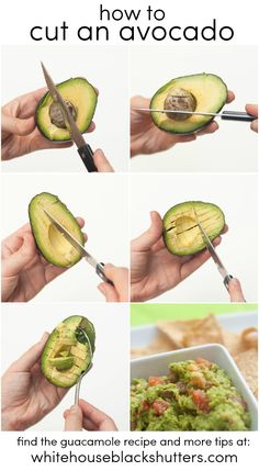 Healthy Food learn how to cut an avocado, even not-so-ripe ones! Can't believe I didn't know this trick before How to lose weight fast ? Guacamole Recipe, Avocado Recipes, Veggie Recipes, Cooking Recipes, Healthy Recipes, Cooking Tips, How To Cut Avocado, Clean Eating, Healthy Eating