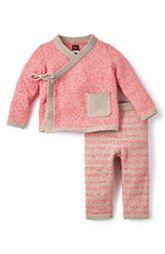 Tea Collection 'Cerro Bonete' Kimono Sweater & Pants (Baby Girls)