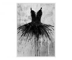 Black Dress Kép 100x140 cm