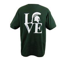 MSU Spartan LOVE Green T-shirt