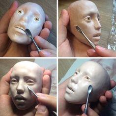 #art #bjd #craftdoll #doll #dollmaker #process #sculpture #polymerclay…