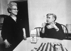 Andy Warhol starting the day with cereal. | 21 Awesome Vintage Photos Of Celebrities Eating