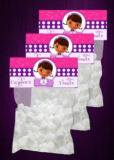 Cute Doc Mcstuffins Digital Treat Bag Toppers DIY by SDBDIRECT, $2.99