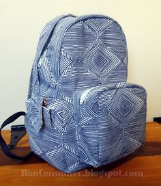 "MADE IT: Pellon Free Backpack Pattern. ""Back(pack) To School by Cassie Williams"""