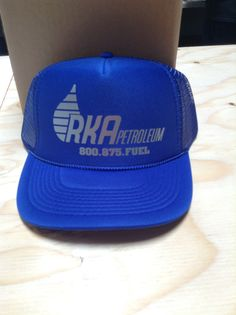 Custom heat pressed metallic trucker hat http://customplanet.com