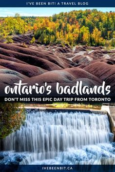 If you're looking for one of the best day trips from Toronto Ontario, that has to be the Cheltenham Badlands! See how you can pair it with a visit to Belfountain Ontario for a fantastic day of exploring. | Cheltenham Badlands Ontario | Belfountain Conservation Area | Ontario Hiking Trails | Hiking in Ontario | Unique Things to Do in Ontario | Ontario Canada Travel | IveBeenBit.ca Cool Places To Visit, Places To Travel, Places To Go, Travel Destinations, Alberta Canada, Cheltenham Badlands, Canadian Travel, Canadian Rockies, Vancouver