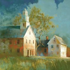 Oil painting by Vermont artist Paul Stone.  His work is achingly beautiful--a wonderful use of light & color.