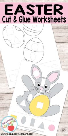 Easter - Cut and Glue Worksheets