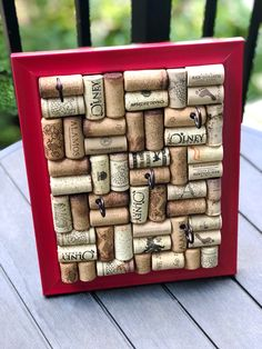 #winecorkjewelryholder #winecorkboard #bulletinboard #jewelryholder #jewelrystorage #jewelrydisplays #jewelryaddict #redframe #reddecor #keyhanger #keystorage #keydisplay #jewelryorganizer #winecorks #winecorkcrafts #wineart #winecorkart #winecorkdecor #winedecor #winelover #winelovergifts #housewarminggift #homeoffice #homeofficedecor #upcycledhomedecor #upcycled Wine Cork Jewelry, Wine Cork Art, Wine Cork Crafts, Jewellery Storage, Jewellery Display, Jewelry Organization, Gifts For Wine Lovers, Gift For Lover, Wine Cork Holder