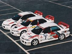 mitsubishi evo rally cars