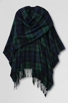 shawl. seriously crazy about this tartan plaid wrap from lands' end. So cute with jeans and riding boots!