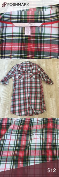 Oversized VS Flannel Good condition. Size small but can also fit a Medium Victoria's Secret Tops Button Down Shirts