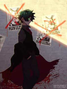 Deku is the name of a villain — cowardlybean: Villain Deku inspired by Persona. My Hero Academia Shouto, Hero Academia Characters, Leonardo Tmnt, Villain Deku, Chica Anime Manga, Hot Anime Guys, Marvel Funny, Boku No Hero Academy, Pictures To Draw