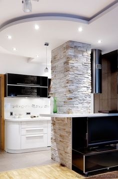 #Kitchen Idea of the Day: Modern Black & White Kitchen... with a musical notes backsplash!