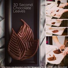 30 Second Chocolate Leaves