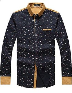 SSLR Men's Casual Straight Fit Long Sleeve Shirt Medium, Blue Go to the website to read more description. Casual Shirts For Men, Casual Shorts, Men Casual, Mens Fashion, Fashion Trends, Casual Dresses, Long Sleeve Shirts, Printing, My Style