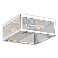 Decor Living Maxime 2-Light Chrome Flush Mount-24603FM-015 - The Home Depot