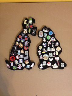 Disney Lady and the Tramp pin display board by PinDisplaysPlus