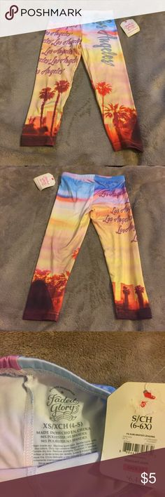 NWT Los Angeles Leggings NWT Los Angeles Leggings. Little Girl Size XS 4/5. Never worn. Leggings were mistagged therefore they were never worn. Faded Glory Bottoms Leggings