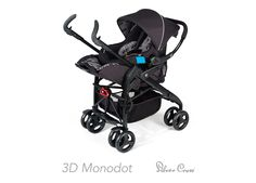 Silver Cross 3D Pram and Pushchair - Monodot *Package Exclusive to Mothercare*