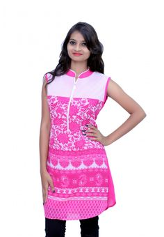 ...WOMEN PINK LONG TOP... Get designer tops at reasonable prices.