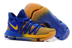 "reputable site f7160 43b0d Buy Nike KD 10 ""Warriors Away"" Blue Yellow Releasing Discount from Reliable Nike  KD 10 ""Warriors Away"" Blue Yellow Releasing Discount suppliers."