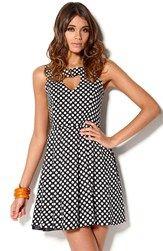 Kling Dress At Heart Black Bubbleroom.se