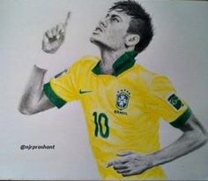 Neymar drawing done in color pencil  Neymar  Pinterest  Neymar