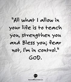 God is in control