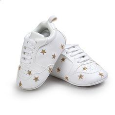 1f29ca2d2dc 2017 nieuwe stijl kinderen pu materiaal mode peuter schoenen baby leuke  kant-up ster sportschoenen 0-18 m x 6