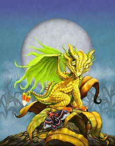 Corn Dragon Digital Art