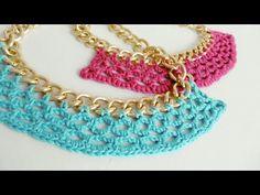 Collar Tejido a Crochet - Paso a Paso - YouTube