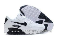 hot sale online 4bcc6 25b26 Soldes Voir La Derniere Nike Air Max 90-2 Blanche Et Noir Logo Homme  Chaussures Pas Cher