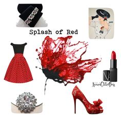 Splash of Red by anne-ficarella on Polyvore featuring polyvore, fashion, style, Valentino, CORO, NARS Cosmetics and clothing