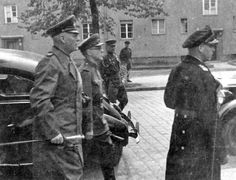 Representatives of the German High Command, headed by General Field Marshal Wilhelm Keitel directed to the signing of the Act of Unconditional Surrender of Germany. May 8, Berlin, Karlhorst.     Location: Berlin, Germany Date: 05/08/1945