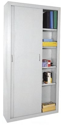 3-Tier Office Storage Cabinet Filing Organiser Bookcase File Shelve Metal Cupboard with 2 Doors and Lock System 90 x 40 x 90 cm