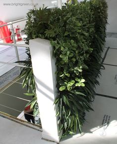 Custom Made Fire Retardant Green Wall over a Stairwell