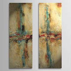 Hand Painted Oil Painting Abstract with Stretched Frame Set of 2 1308-AB0709 – USD $ 99.99