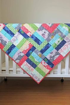 V and Co.: V and Co.: jelly roll jam quilt free pattern and video tutorial (based on tutorial from Fat Quarter Shop - 2 baby quilts from 1 jelly roll)