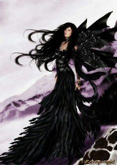 A beautiful fairy all in black!