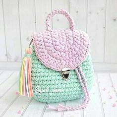 Enjoy Arts And Crafts Crochet Diy, Crochet Braids, Crochet Gifts, Crochet Handbags, Crochet Purses, Crochet Designs, Crochet Patterns, Crochet Backpack Pattern, Crochet Octopus