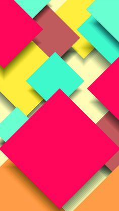 Abstract Colorful Square Overlap #iPhone #6 #plus #wallpaper