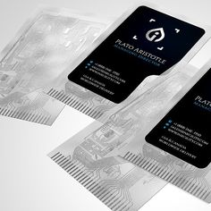 Computer Motherboard Style Plastic BusinessCards from Inkgility