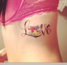 Autism awareness is going to be my next tattoo choice, dedicated to my lil sis :) She's my world. Pretty Tattoos, Love Tattoos, Beautiful Tattoos, Body Art Tattoos, Small Tattoos, Tatoos, Ankle Tattoos, Autism Awareness Tattoo, Autism Tattoos