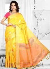 Yellow Color Art Silk Designer Festive Sarees : Vinang Collection YF-64046 Latest Indian Saree, Indian Sarees Online, Blouse Styles, Blouse Designs, Lehenga Saree, Sari, Buy Designer Sarees Online, Stylish Sarees, Casual Saree