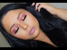 Pink Bronze Makeup Tutorial | Huda Beauty Textured Shadows Palette - YouTube