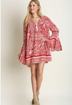 Red & Cream Paisley Bell Sleeve Boho Dress – The Elegant Rant Boutique | A True Online Boutique https://elegantrant.com/collections/dresses/products/red-cream-paisley-bell-sleeve-boho-dress
