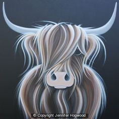 highland cow by Jennifer Hogwood, Windsor gallery. About £600 - sold.