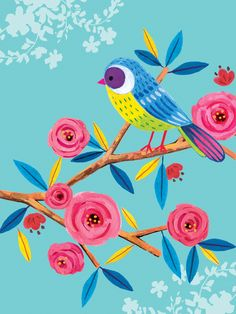 Leading Illustration & Publishing Agency based in London, New York & Marbella. Fabric Painting, Painting & Drawing, Rock Crafts, Bird Art, Flower Art, Watercolor Art, Art For Kids, Art Drawings, Art Projects